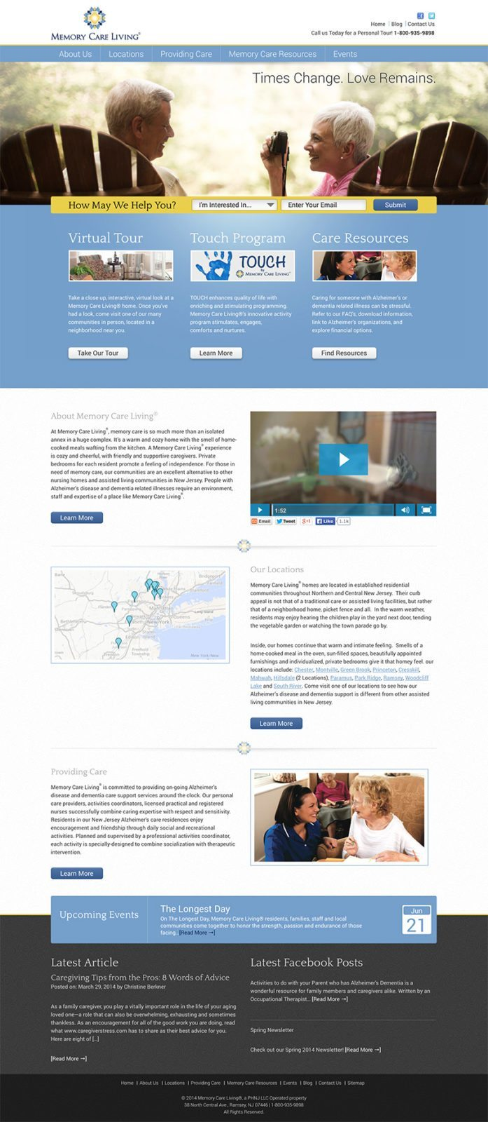 Epic Notion Client | Memory Care Living Laptop Website Development and Design