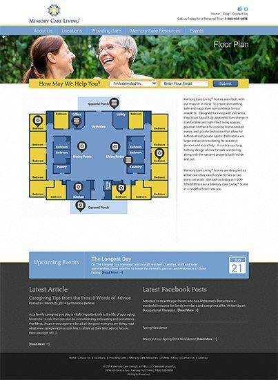 Epic Notion Client | Memory Care Living Website Development and Design