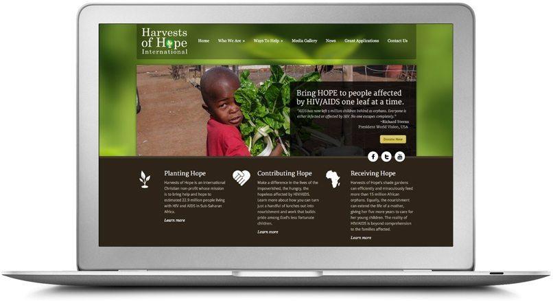 Epic Notion Client Harvests of Hope Website Laptop Development and Design