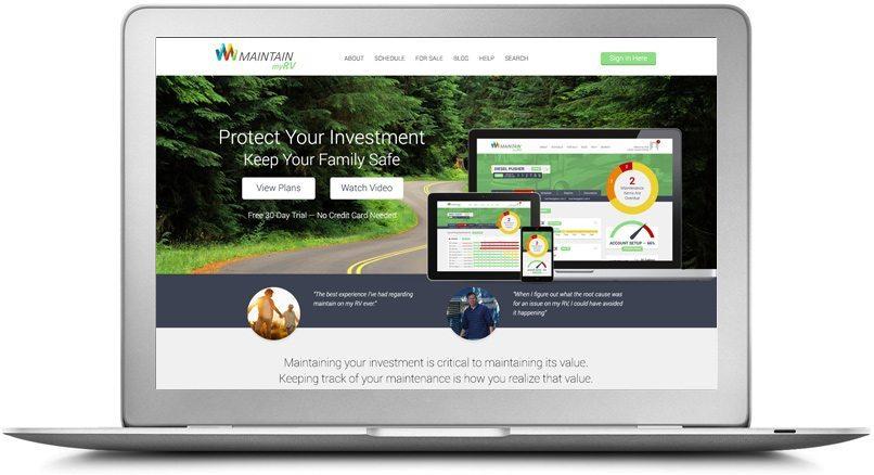 Epic Notion Digital Marketing | Maintain My RV Laptop Website Development and Design