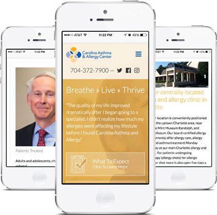 Award-Winning Epic Notion Client   Carolina Asthma & Allergy Website Design and Development