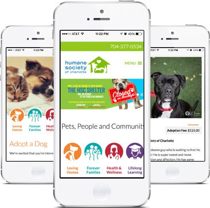 Epic Notion Client | Humane Society of Charlotte Mobile Website Design and Development