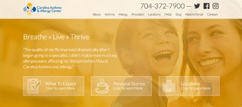 Carolina Asthma and Allergy Website Design and Development