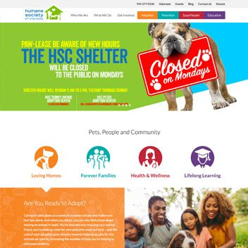 Humane Society Website Design and Development